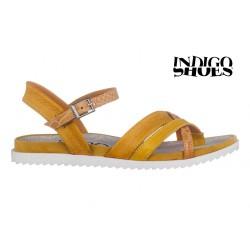 žluté kožené sandály INDIGO Shoes 15102