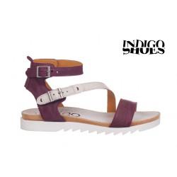 fialovo bílé kožené sandály INDIGO Shoes 1686