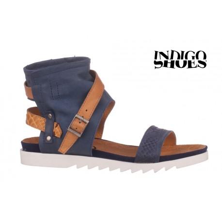 modro béžové kožené sandály INDIGO Shoes 1684