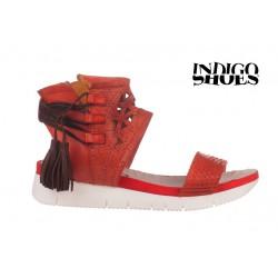 červené kožené sandály INDIGO Shoes 1764