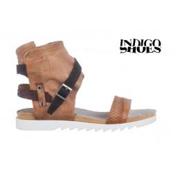 béžovo hnědé kožené sandály INDIGO Shoes 1684