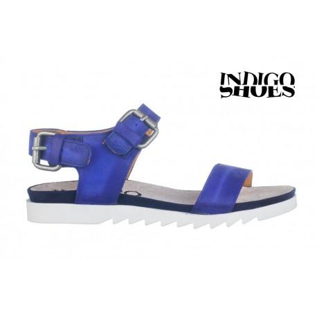 královsky modré kožené sandály INDIGO Shoes 1593