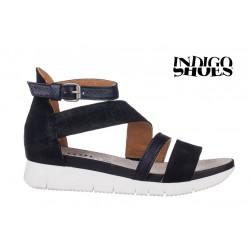 černé kožené sandály INDIGO Shoes 1767