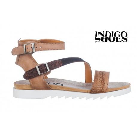 béžovo hnědé kožené sandály INDIGO Shoes 1686