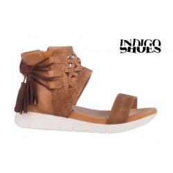 béžové kožené sandály INDIGO Shoes 1764