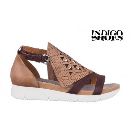 béžovo hnědé kožené sandály INDIGO Shoes 1760