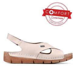 béžové kožené sportovní sandály TENDENZ SSS17-019