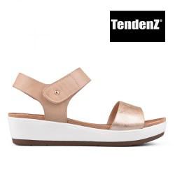 zlato béžové sandály na platformě TENDENZ TAS17-016