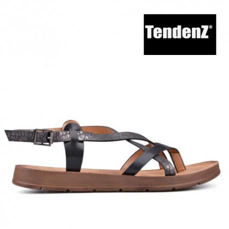 černo sandály mezi prst TENDENZ CRS17-061