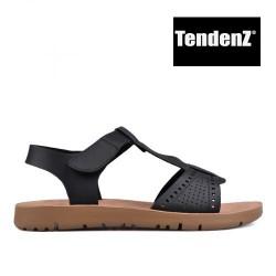 černé sandály TENDENZ VIS17-010