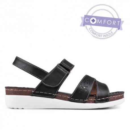černé sandály TENDENZ TAS17-035