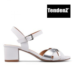bílo stříbrné elegantní páskové sandály TENDENZ CRS17-039