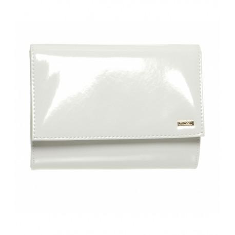 bílá lakovaná společenská kabelka psaníčko GROSSO SP128