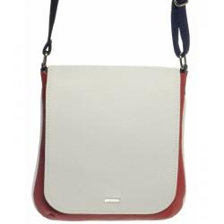 bílo modro červená crossbody kabelka GROSSO M261