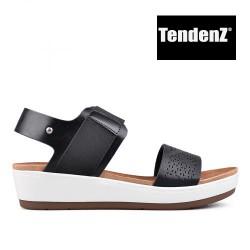 černé páskové sandály TENDENZ TAS17-017