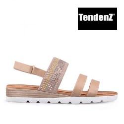 béžové páskové sandály TENDENZ TAS17-018