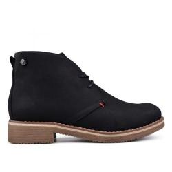 černá šněrovací kotníková obuv TENDENZ VSW17-031