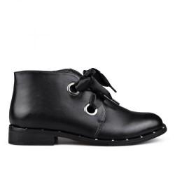 černá pseudo šněrovací kotníková obuv TENDENZ VSW17-004