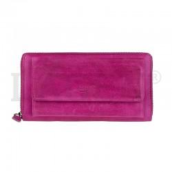 dámská kožená tmavě růžová peněženka Lagen 786-017/D