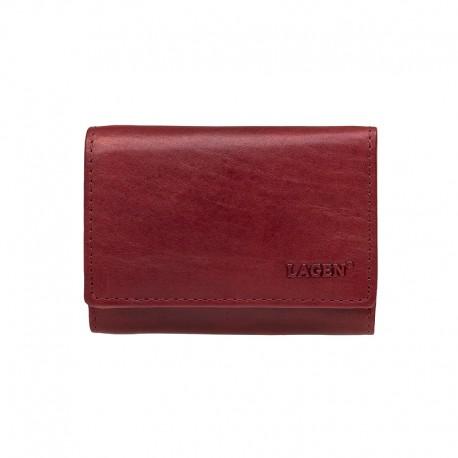 dámská kožená červená peněženka Lagen LM-2520/T