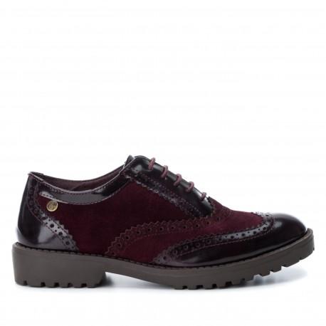 dámská bordó kombinovaná šněrovací obuv CARMELA 65685