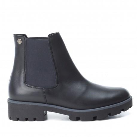 černá kožená kotníková obuv perka chelsea boots CARMELA 65849