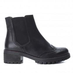 černá kožená kotníková obuv perka chelsea boots CARMELA 65882