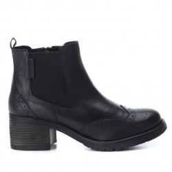 černá kožená kotníková obuv perka chelsea boots CARMELA 65915