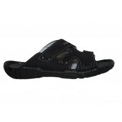 pánské tmavě modré kožené pantofle