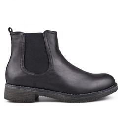 černé kotníkové chelsea boots VSW17-029