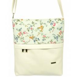 bílá crossbody kabelka s květinovým vzorem GROSSO C18SM038