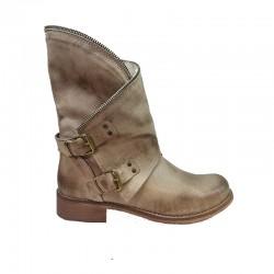 béžovo-šedé kožené jarní italské polokozačky Bouu shoes 501