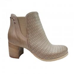 béžová kožená jarní italská kotníková obuv Ripa 813