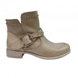 béžová kožená jarní italská kotníková obuv Ripa 801