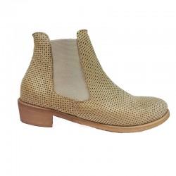béžová kožená jarní italská kotníková obuv Bouu shoes B50