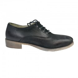 černé kožené italské šněrovací polobotky Bouu shoes C1976