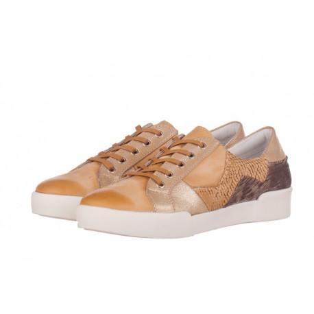 béžové kožené tenisky na platformě INDIGO Shoes 1559
