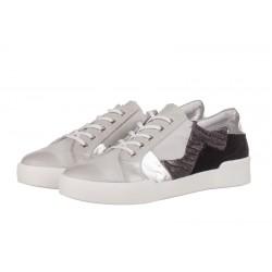 bílé kožené tenisky na platformě INDIGO Shoes 1559