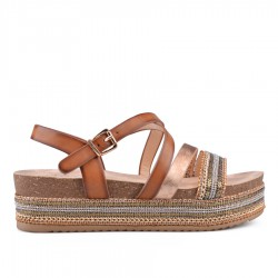 hnědé sandálky TENDENZ CRS18-004