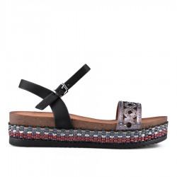 černé sandálky TENDENZ CRS18-007