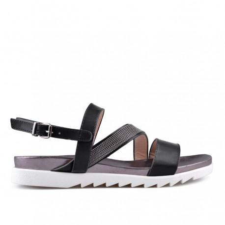 černé sandálky TENDENZ CRS18-026