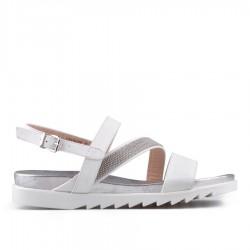 bílé sandálky TENDENZ CRS18-026