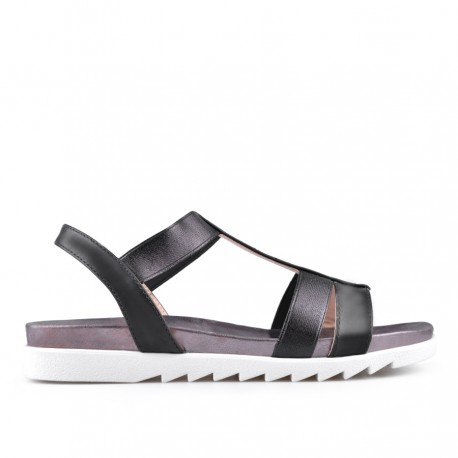 černé sandálky TENDENZ CRS18-027