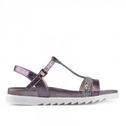 tmavě stříbrné sandálky TENDENZ CRS18-029