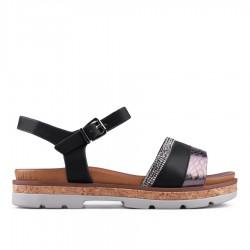 černé sandálky TENDENZ CRS18-033