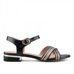 černé sandálky TENDENZ CRS18-036