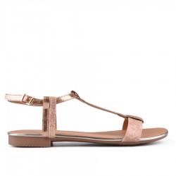 zlatavě růžové sandálky TENDENZ CRS18-038