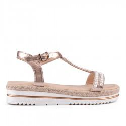 zlatavě růžové sandálky TENDENZ IES18-006