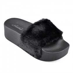 černé pantofle TENDENZ PTS18-001