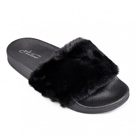černé pantofle TENDENZ PTS18-010